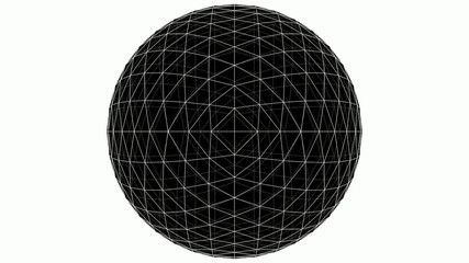 From Octahedron To The Ball Sphere Lines Animation 01