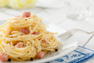 Spaghetti alla Carbonara, a Traditional Italian Recipe