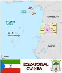 Equatorial Guinea Africa  symbol administrative divisions