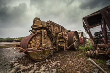 abandoned roller