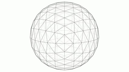 From Octahedron To The Ball Sphere Lines Animation 02
