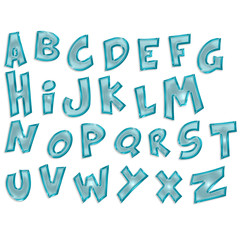 transparent alphabet