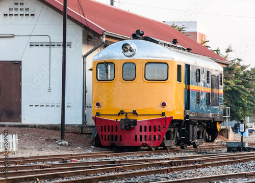 Old diesel hydraulic locomotive