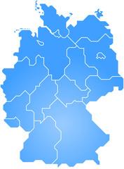 Deutschlandkarte stilisiert