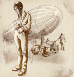 World between 1905-1949 - Airship pilot (full sized drawing)