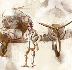 World between 1905-1949 - Pilot (full sized hand drawing)
