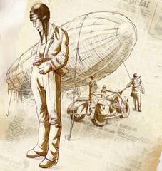 World between 1905-1949 - Airship pilot (full sized drawing)