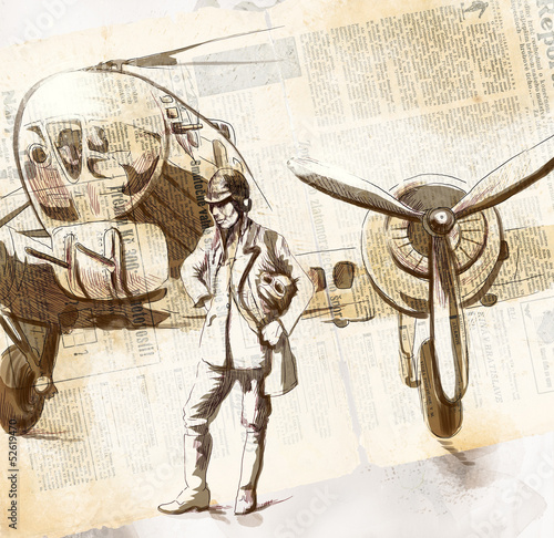 swiat-w-latach-1905-1949-pilot-rysunek-wielkoformatowy
