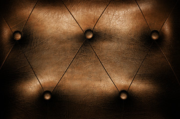 Luxury brown leather close-up background