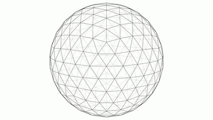 From Icosahedron To The Ball Sphere Lines Animation 03