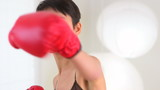 Chinese woman boxing