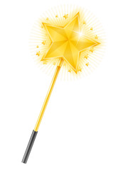 Magic Wand with Golden Star