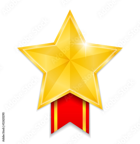 Star Shaped Medal
