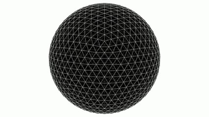 From Icosahedron To The Ball Sphere Lines Animation 04