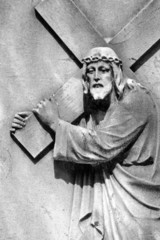 Christ Carrying the Cross - detail of antique relief