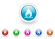 flames vector glossy internet icons set on white background