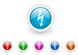 electricity vector glossy internet icons set on white background
