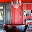 Red & Black Classic Bathroom