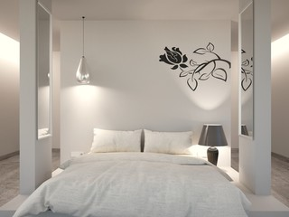 White Modern Bedroom