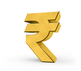 Gold indian rupee symbol