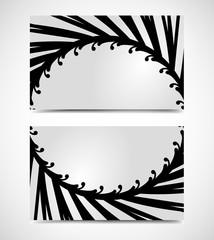 Vector of modern artistic business card templates