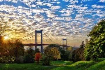 le grand pont d'Aquitaine de Bordeaux