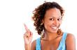 Black woman pointing an idea