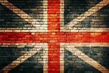 United Kingdom flag on old brick wall - 52624407