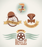 Vintage bicycle labels