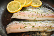 Cooking White Fish with Lemon Slices