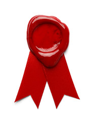 Wax Seal Red Ribbon