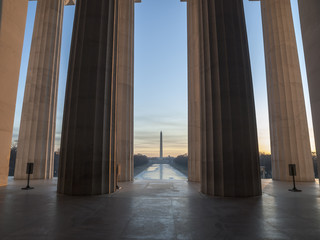 Lincoln Monument View Dawn