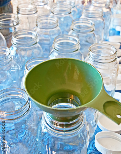 Clean Canning Jars and Funnel