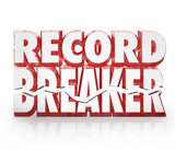 Record Breaker 3D Words Historic Best Score Results