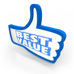 Best Value Thumb's Up Top Rating Score Quality
