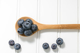 Fresh Blueberries on a Spoon