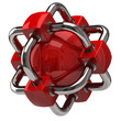 Red network and globalization icon