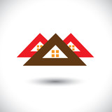 House(home) icon(symbol) for real-estate industry- vector graphi poster