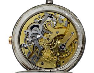 détails intérieur d'une montre ancienne