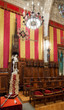 Hall of Council of One Hundred in city hall of Barcelona