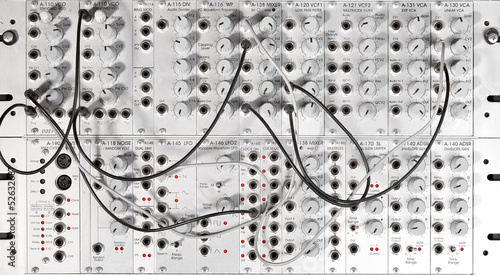 canvas print picture big modular synth