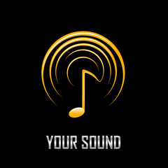 Vector Logo music and sound