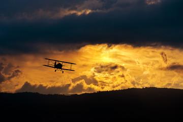 Biplano al tramonto - Freedom