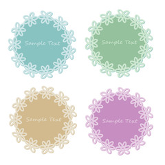Vector set of lace frames