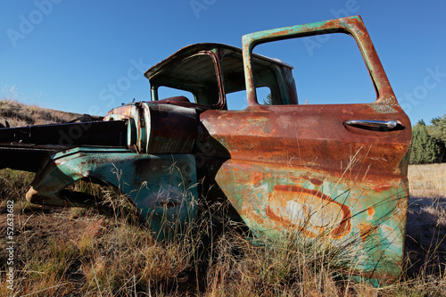 Rusty old pickup truck