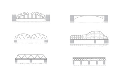 Bridge vector illustrations