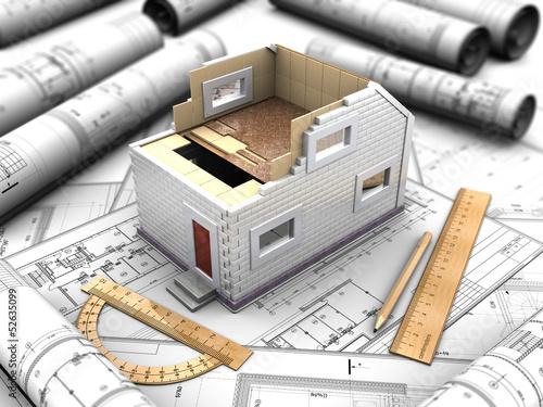 架构模型白色真正的组成结构背景设计详细铅笔关於