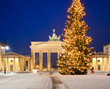 Leinwanddruck Bild - Brandenburger Tor im Advent