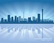 Johannesburg South Africa city skyline silhouette