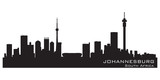 Fototapety Johannesburg South Africa skyline Detailed vector silhouette